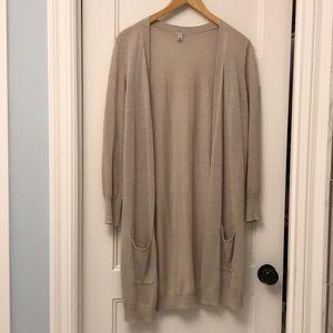 Halogen linen blend long cardigan